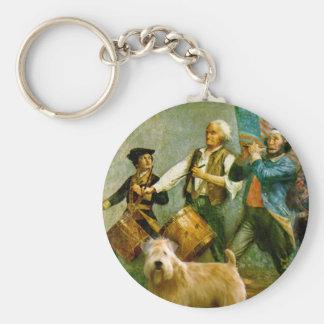 Spirit of 76 - Wheaten Terrier 2B Keychain