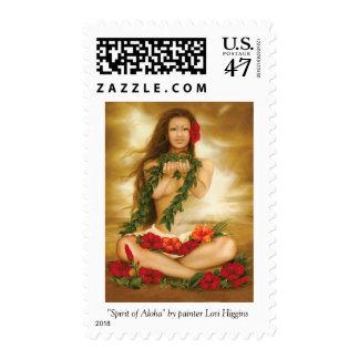 """Spirit of Aloha"" by painter Lori Higgins. Stamps. Postage"