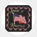 SPIRIT OF AMERICA CLASSIC ROUND STICKER