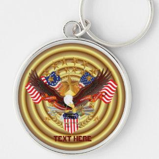 Spirit of America  Key Chain Premium Round only