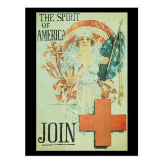 Spirit Of America World War II Postcard