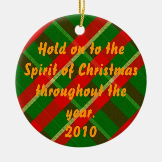 Spirit of Christmas Ceramic Ornament