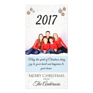 Spirit of Christmas Family Photo Card Snow