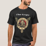 "Spirit of Clan Gregor by Jason Lackey""Poem On Back T-Shirt"