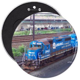 Spirit of Conrail - GP38 - PRR #2943 in Blue Paint Button