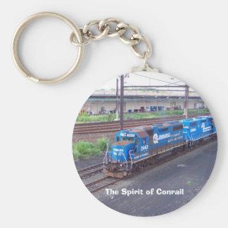 Spirit of Conrail - GP38 - PRR #2943 in Blue Paint Keychain