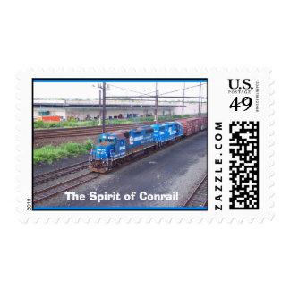 Spirit of Conrail - GP38 - PRR #2943 in Blue Paint Postage Stamp