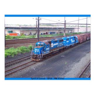 Spirit of Conrail - GP38 - PRR #2943 in Blue Paint Post Card
