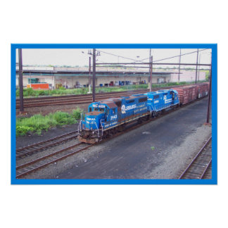 Spirit of Conrail - GP38 - PRR #2943 in Blue Paint Poster