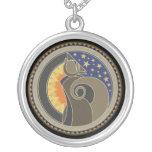 Spirit Of Coyote Round Pendant Necklace