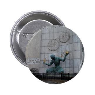 Spirit of Detroit Button