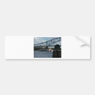 Spirit of Dubuque on Mississippi River Bumper Sticker