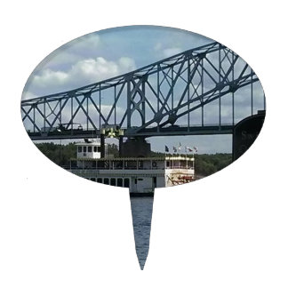 Spirit of Dubuque on Mississippi River Cake Topper