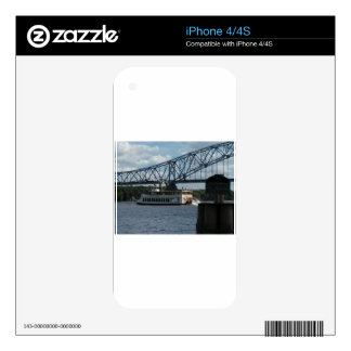 Spirit of Dubuque on Mississippi River Skins For The iPhone 4