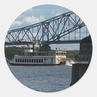 Spirit of Dubuque Steamboat Classic Round Sticker
