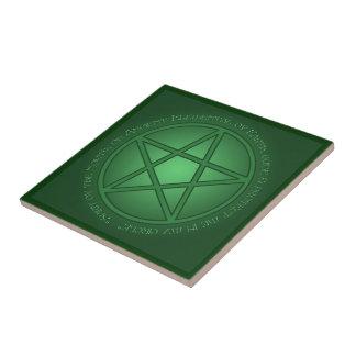 Spirit of Earth Pentacle Tile