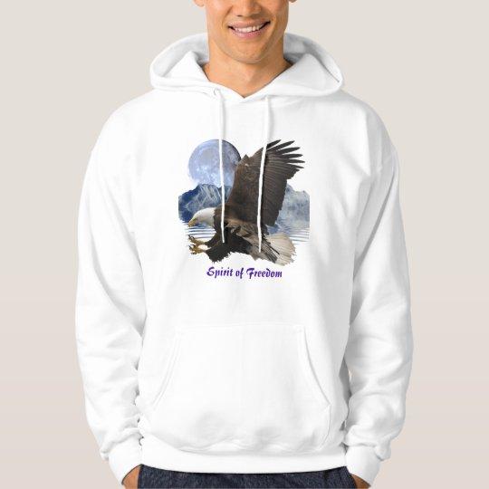 SPIRIT of FREEDOM Bald Eagle Wildlife Hoodie