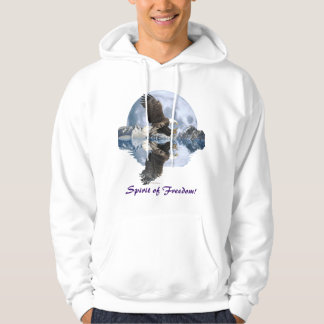 Spirit of Freedom Bald Eagle Wildlife Hoodie
