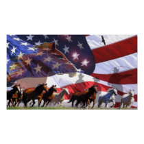 Spirit of Freedom Cowboy Western Horses Poster art
