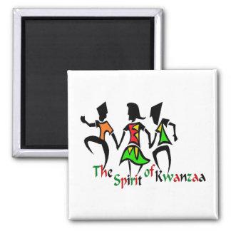 Spirit of Kwanzaa 2 Inch Square Magnet