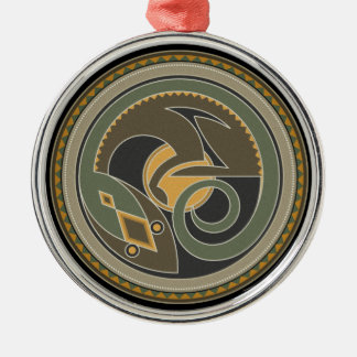Spirit Of Lizard Metal Ornament