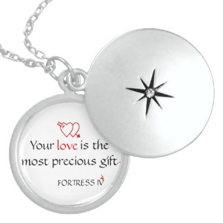 Spirit of Love Collection by FORTRESS IV Round Locket Necklace