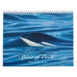 Spirit of Orca Killer Whales Calendar