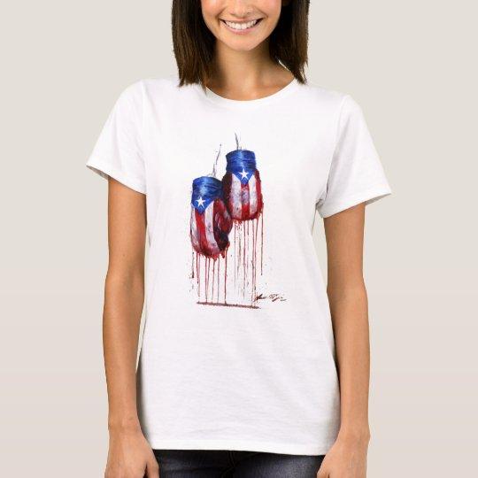 Spirit of Puerto Rico Boxing Ladies T-Shirt