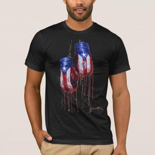 Spirit of Puertro Rican Boxing Dark T_Shirt