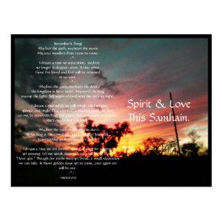 Spirit of Samhain Post Card