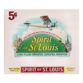Spirit of St. Louis Vintage Cigar Label Detroit Photo