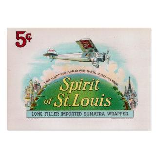 Spirit of St. Louis Vintage Cigar Label Large Business Card