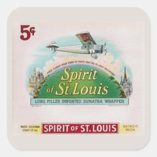 Spirit of St. Louis Vintage Cigar Label Retro