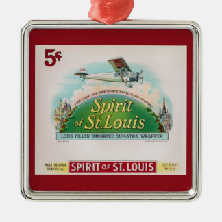 Spirit of St. Louis Vintage Cigar Label Retro Metal Ornament