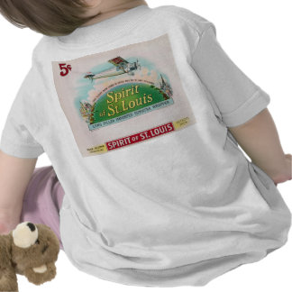 Spirit of St. Louis Vintage Cigar Label T Shirts