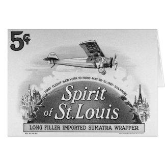 Spirit of St. Louis - Vintage Cigar Wrapper Card