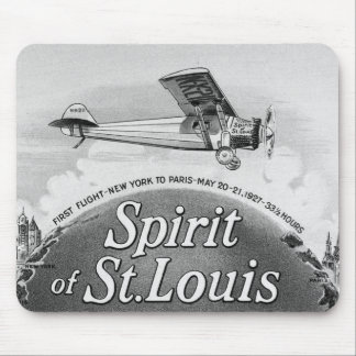 Spirit of St. Louis - Vintage Cigar Wrapper Mouse Pad
