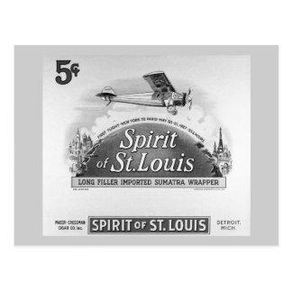 Spirit of St. Louis Vintage Cigar Wrapper Postcard