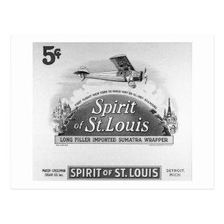 Spirit of St Louis - Vintage Cigar Wrapper Post Card