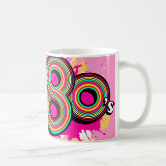 Spirit of the 80's girls pink logo retro mug