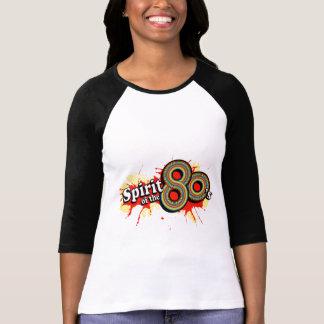 """""""Spirit of the 80's"""" ladies multi-colour logo tee"""
