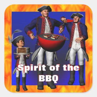 Spirit of the BBQ Square Sticker