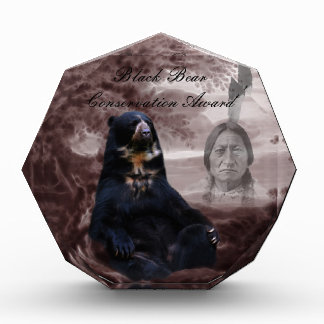 Spirit of the black bear acrylic award