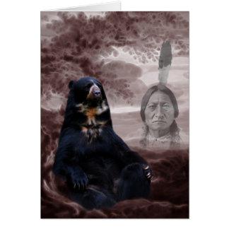 Spirit of the black bear card