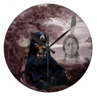 Spirit of the black bear large clock