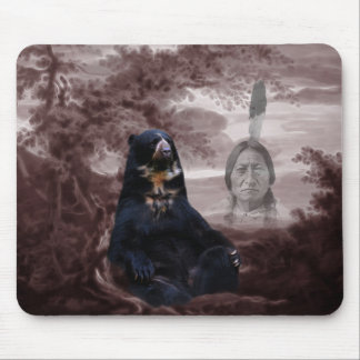 Spirit of the black bear mouse pad
