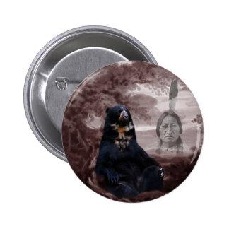 Spirit of the black bear pinback button