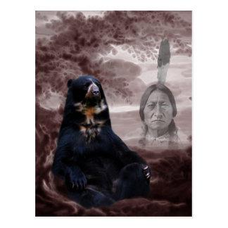 Spirit of the black bear postcard