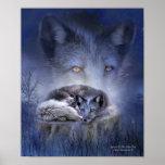 Spirit Of The Blue Fox Art Poster/Print