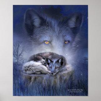 Spirit Of The Blue Fox Art Poster/Print Poster